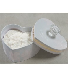 May collection peony soap heart white